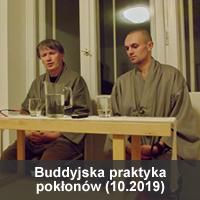 Buddyjska praktyka pokłonów 10.2019